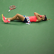 2016 U.S. Open - Day 13  Angelique Kerber of Germany falls to the ground in celebration after winning the Women's Singles Final against Karolina Pliskova of the Czech Republic on Arthur Ashe Stadium on day thirteen of the 2016 US Open Tennis Tournament at the USTA Billie Jean King National Tennis Center on September 10, 2016 in Flushing, Queens, New York City.  (Photo by Tim Clayton/Corbis via Getty Images)