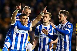Goal, Tomer Hemed of Brighton & Hove Albion scores from the penalty spot, Brighton & Hove Albion 1-0 Fulham - Mandatory byline: Jason Brown/JMP - 07966 386802 - 15/04/2016 - FOOTBALL - American Express Community Stadium - Brighton,  England - Brighton & Hove Albion v Fulham - Championship