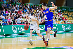M. Va?l of KK Zlatorog and M. Cakarun of KK Helios Suns  during basketball match between KK Zlatorog and KK Helios Suns in 1st match of Nova KBM Slovenian Champions League Final 2015/16 on May 29, 2016  in Dvorana Zlatorog, Lasko, Slovenia.  Photo by Ziga Zupan / Sportida