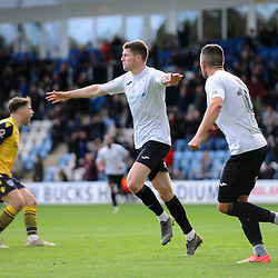 TELFORD COPYRIGHT MIKE SHERIDAN GOAL. Matt Stenson of Telford (on loan from Solihull Moors) scores to make it 3-1 during the Vanarama National League Conference North fixture between AFC Telford United and Guiseley on Saturday, October 19, 2019.<br /> <br /> Picture credit: Mike Sheridan/Ultrapress<br /> <br /> MS201920-026