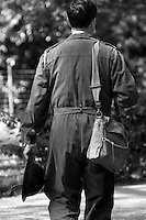 depiction Black and White WW11 ARP Air raid Warden <br />  (credit image©Jack Ludlam)
