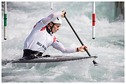 British and Olympic slalom canoeist Adam Burgess  at Lee Valley White Water Centre