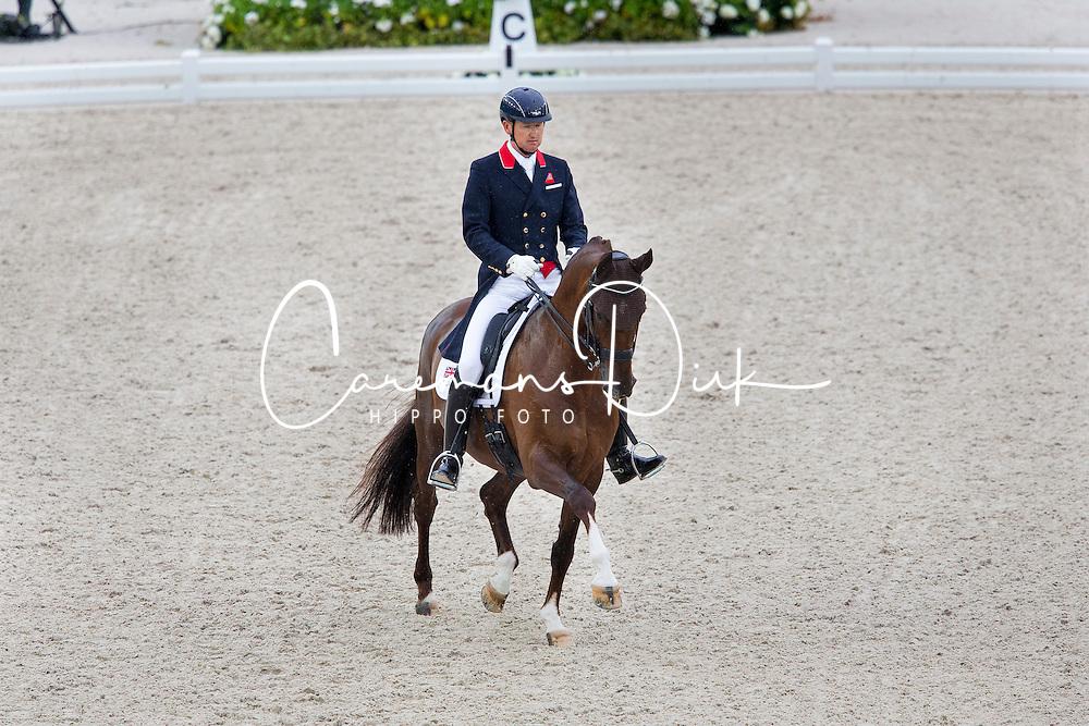 Gareth Hughes, (GBR), DV Stenkjers Nadonna - Grand Prix Team Competition Dressage - Alltech FEI World Equestrian Games™ 2014 - Normandy, France.<br /> © Hippo Foto Team - Leanjo de Koster<br /> 25/06/14