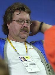23-09-2000 AUS: Olympic Games Volleybal Nederland - Egypte, Sydney<br /> Nederland wint met 3-1 van Egypte / Hans van Tilburg, fotograaf Telegraaf