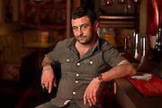 May0069846 . Daily Telegraph<br /> <br /> DT Weekend<br /> <br /> Yianni runs the Meat Liquor chain of restaurants, but started off as street food trader.<br /> <br /> London 28 April 2016