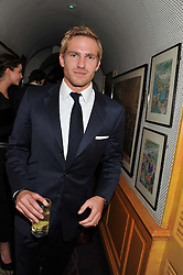 JACOBI ANSTRUTHER-GOUGH-CALTHORPE at the Johnnie Walker Blue Label and David Gandy partnership launch party held at Annabel's, 44 Berkeley Square, London on 5th February 2013.