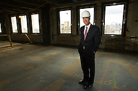 NEW YORK, NY – NOVEMBER 8, 2013:  CEO of Marriott Hotels, Arne Sorenson, at the at the Metropolitan Life Insurance Company Tower on Madison Square Park in Manhattan where a new brand of Marriott Hotels, Edition Hotel New York, is being installed and set to open in 2015. <br /> <br /> Photo © Robert Caplin