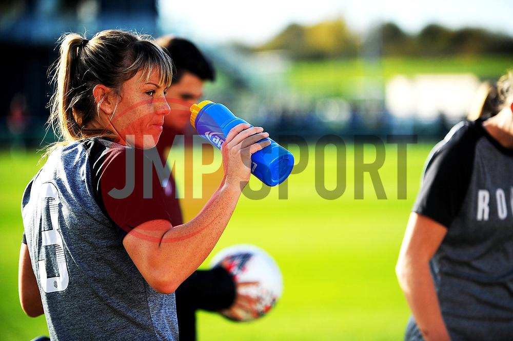 Gemma Evans of Bristol City rehydrates- Mandatory by-line: Nizaam Jones/JMP - 27/10/2019 - FOOTBALL - Stoke Gifford Stadium - Bristol, England - Bristol City Women v Tottenham Hotspur Women - Barclays FA Women's Super League
