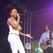 London, England, UK. 16th July 2017. JJ Soulx performs at the Citadel Festival at Victoria Park, London, UK.