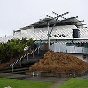 Exterior shot of Puke Ariki Museum, New Plymouth, New Zealand,22nd December 2010.  Photo Tim Clayton.