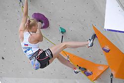 25.06.2021, Kletterzentrum, Innsbruck, AUT, IFSC, Austria Climbing Open 2021, Damen, Vorstieg, Halbfinale, im Bild Janja Garnbret (SLO) // Janja Garnbret of Slovenia during the semifinal of women Lead competition of the Austria Climbing Open 2021 at the Kletterzentrum in Innsbruck, Austria on 2021/06/25. EXPA Pictures © 2021, PhotoCredit: EXPA/ Erich Spiess