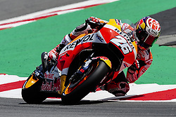 June 16, 2018 - Barcelona, Catalonia, Spain - The Spanish rider, Dani Pedrosa of Repsol Honda Team, riding with his Honda during the Qualifying, Moto GP of Catalunya at Circuit de Catalunya on June 16, 2018 in Barcelona, Spain. (Credit Image: © Joan Cros/NurPhoto via ZUMA Press)