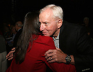 28 August 2006: 2006 inductee Carla Overbeck hugs her father Art Werden. The National Soccer Hall of Fame Induction Ceremony was held at the National Soccer Hall of Fame in Oneonta, New York.