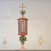 """VENICE, ITALY - DECEMBER 10: A  collection of Murano glass around mid 1800 on display at the press preview of the exhibition """"The Adventure of Glass"""" at  Museo Correr on December 10, 2010 in Venice, Italy. After nearly thirty years Correr Museum is hosting a prestigious exhibition in celebration of over a thousands years history of glass in Venice and the Lagoon"""