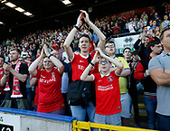 Charlton fans during the EFL Sky Bet League 1 match between Rochdale and Charlton Athletic at Spotland, Rochdale, England on 5 May 2018. Picture by Paul Thompson.