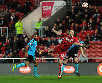 Bristol City's Milan Djuric battles with Fleetwood Town's Ben Davies<br /> <br /> Photographer Ashley Crowden/CameraSport<br /> <br /> Emirates FA Cup Third Round - Bristol City v Fleetwood Town - Saturday 7th January 2017 - Ashton Gate - Bristol<br />  <br /> World Copyright © 2017 CameraSport. All rights reserved. 43 Linden Ave. Countesthorpe. Leicester. England. LE8 5PG - Tel: +44 (0) 116 277 4147 - admin@camerasport.com - www.camerasport.com