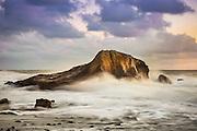 Waves Crashing Over Rocks at the Jetty at Dana Point Headlands
