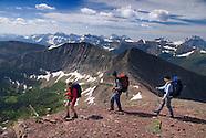 Hiking the Tamarack trail, Waterton NP, Alberta, Canada