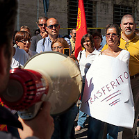 Manifestazione lavoratori Ibm