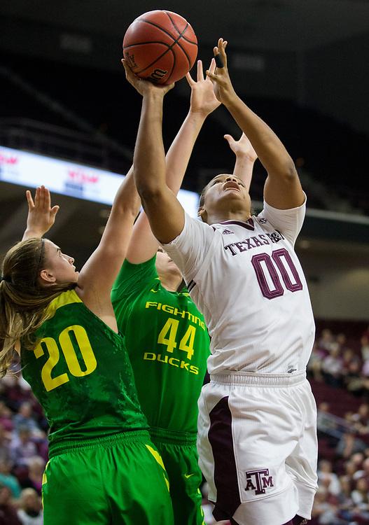 Oregon vs. Texas A&M NCAA women's basketball game Thursday, Nov. 16, 2017, in College Station, Texas.