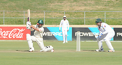 Johannesburg 19-12-18. South Africa Invitation XI vs Pakistan. Pakistan open their tour of South Africa with a three-day match at Sahara Willowmoore Park, Benoni. Day 1. South African Thandolwethu Mnyaka batting during the afternoon session.  Picture: Karen Sandison/African News Agency(ANA)