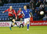 Photo: Steve Bond/Richard Lane Photography. Leicester City v Swansea City. FA Cup Third Round. 02/01/2010. David Cotterill (L) blasts Swansea into the lead