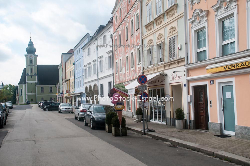 Street scene Aschach an der Donau, Upper Austria.