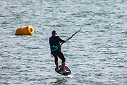 Local residents of Eastern England are seen surfing and enjoying the sunshine on Monday, July 26, 2021 - following the weekend of Floods due to torrential rains in England, United Kingdom. (VX Photo/ Vudi Xhymshiti)