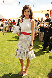 Actress CAMILLA BELLE at the Cartier International Polo at Guards Polo Club, Windsor Great Park, Berkshire on 25th July 2010.