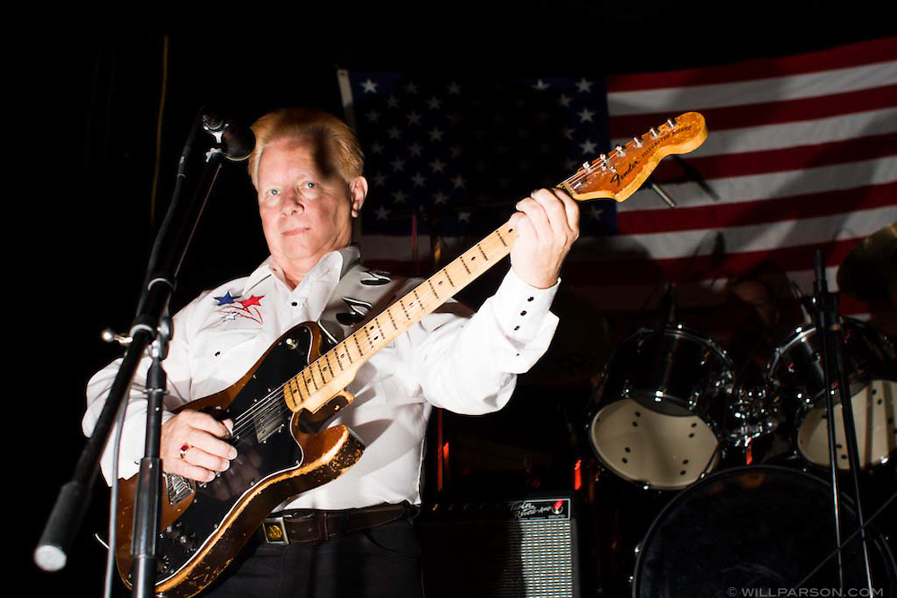 Buck Owens tribute band performs at the Tribute to the Legends of Bakersfield Sound at Trout's Nightclub in Bakersfield, California.