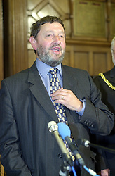 The now Home secretary David Blunket MP making a speech on election night 2001 in the sheffield Town Hall.