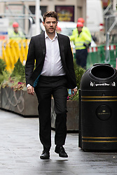 © Licensed to London News Pictures. 09/11/2020. London, UK. Labour Party Director of Communications Ben Nunn departs LBC Studios with Labour Party Leader Sir Keir Starmer (unseen). Photo credit: George Cracknell Wright/LNP