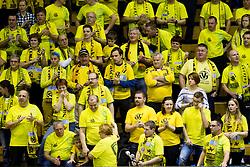 Supporters of RK Gorenje Velenje during handball match between RK Gorenje Velenje (SLO) and Team Tvis Holstebro (DEN) in 3rd Qualification round of EHF European Cup 2015/16, on November 22, 2014, Rdeca dvorana, Velenje, Slovenia. Photo by Urban Urbanc / Sportida