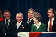 First Lady Nancy Reagan at an Inaugural event on January 18, 1985.<br /><br />Photograph by Dennis Brack