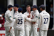Wicket - Sam Cook of Essex celebrates taking the wicket of Steve Davies of Somerset during the Specsavers County Champ Div 1 match between Somerset County Cricket Club and Essex County Cricket Club at the Cooper Associates County Ground, Taunton, United Kingdom on 23 September 2019.