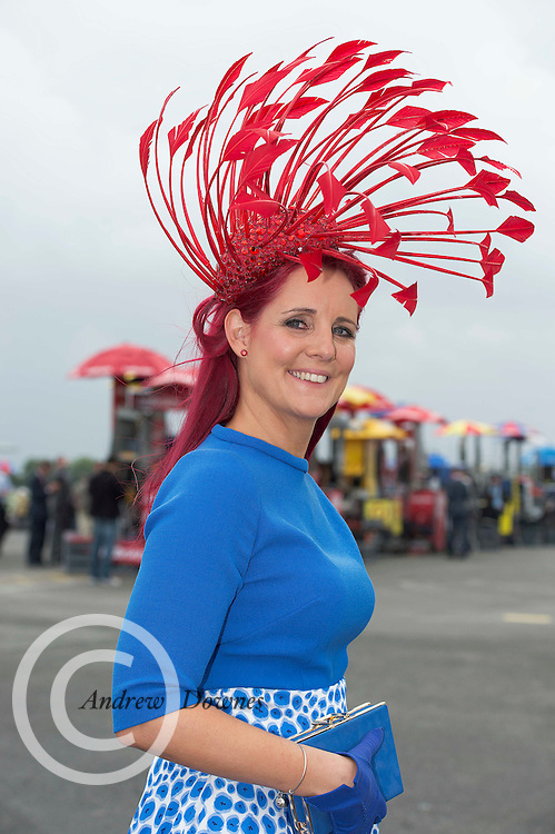 31/07/2014 Repro Free Joanne Murphy Kilgarvan Co Kerry at the Anthony Ryans Best Dressed Ladies day  at the Galway Races Summer Festival <br />  .Photo:Andrew Downes