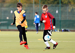 Children take part in the Bristol Rovers Half Term Holiday Camp - Mandatory by-line: Robbie Stephenson/JMP - 27/10/2016 - FOOTBALL - Magotsfield School - Bristol, England - Bristol Rovers Half Term Holiday Camp