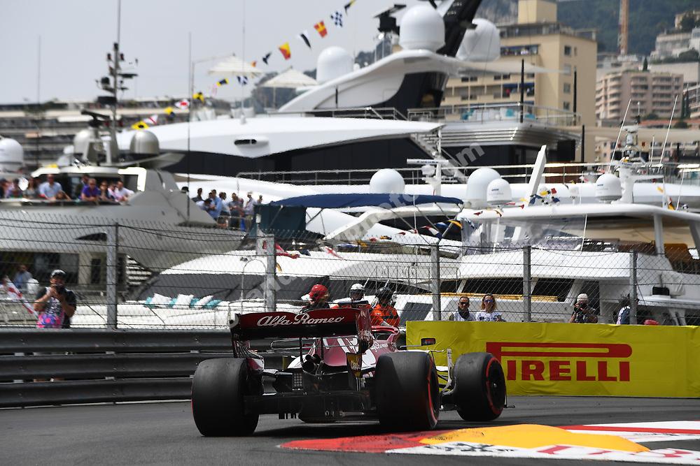 Kimi Raikkonen (Alfa Romeo-Ferrari) during testing at the Circuit de Barcelona-Catalunya in May 2019. Photo: Grand Prix Photo
