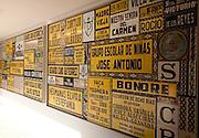 Display advertisements ceramic tile museum, Centro Ceramica, Triana, Seville, Spain
