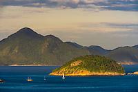 View of the bays that surround the beaches of Rio de Janeiro, Brazil.