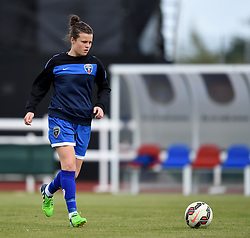 Hayley Ladd of Bristol Academy Women warms up before the FAWSL Continental Tyres Cup game between Bristol Academy Women and Liverpool Ladies on 13 September 2015 in Bristol, England - Mandatory by-line: Paul Knight/JMP - Mobile: 07966 386802 - 13/09/2015 -  FOOTBALL - Stoke Gifford Stadium - Bristol, England -  Bristol Academy Women v Liverpool Ladies FC - FA WSL Continental Tyres Cup