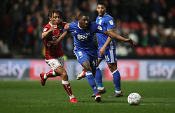 Bristol City's Bobby Reid and Birmingham City's Wes Harding