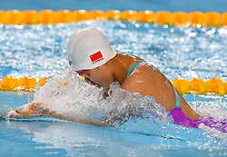 BUENOS AIRES, Oct. 9, 2018  Zheng Muyan of China competes during the women's 4X100m medley relay final at the 2018 Summer Youth Olympic Games in Buenos Aires, Argentina on Oct. 8, 2018. China won the gold with 4 minutes 5.18 seconds. (Credit Image: © Zhu Zheng/Xinhua via ZUMA Wire)
