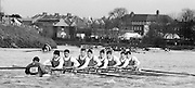 Chiswick. London.<br /> Eights starting from Mortlake University of London. UL<br /> <br /> 1987 Head of the River Race over the reversed Championship Course Mortlake to Putney on the River Thames. Saturday 28.03.1987. <br /> <br /> [Mandatory Credit: Peter SPURRIER;Intersport images] 1987 Head of the River Race, London. UK