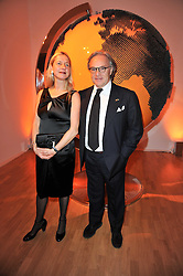 IWONA BLAZWICK director of the Whitechapel Gallery and DIEGO DELLA VALLE he is President and CEO of the Italian leather goods company Tod's at the TOD'S Art Plus Drama Party at the Whitechapel Gallery, London on 24th March 2011.
