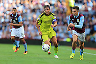 Stephen Kelly of Rotherham Utd in action . EFL Skybet championship match, Aston Villa v Rotherham Utd at Villa Park in Birmingham, The Midlands on Saturday 13th August 2016.<br /> pic by Andrew Orchard, Andrew Orchard sports photography.