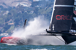 Oracle Team USA vs. Emirates Team New Zealand, Racing is postponed as the wind was consistent above the wind limit of 23 knots, ETNZ leads 7-1. September 17th, San Francisco.
