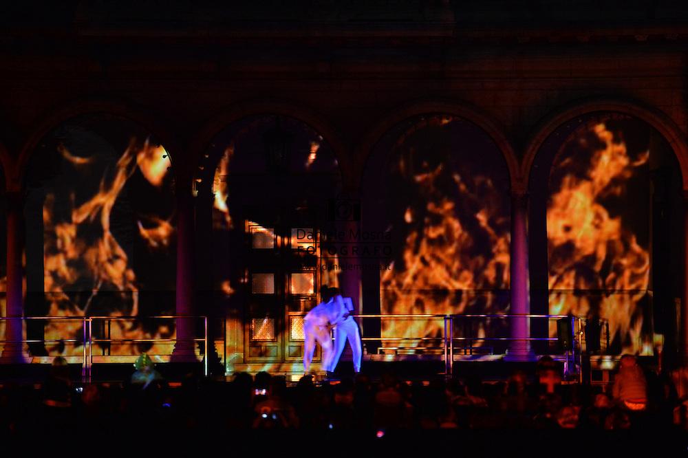 Notte Nera ad Asiago,spettacolo in 3d di Stefano Benedetti, 29 Agosto 2015 © foto Daniele Mosna
