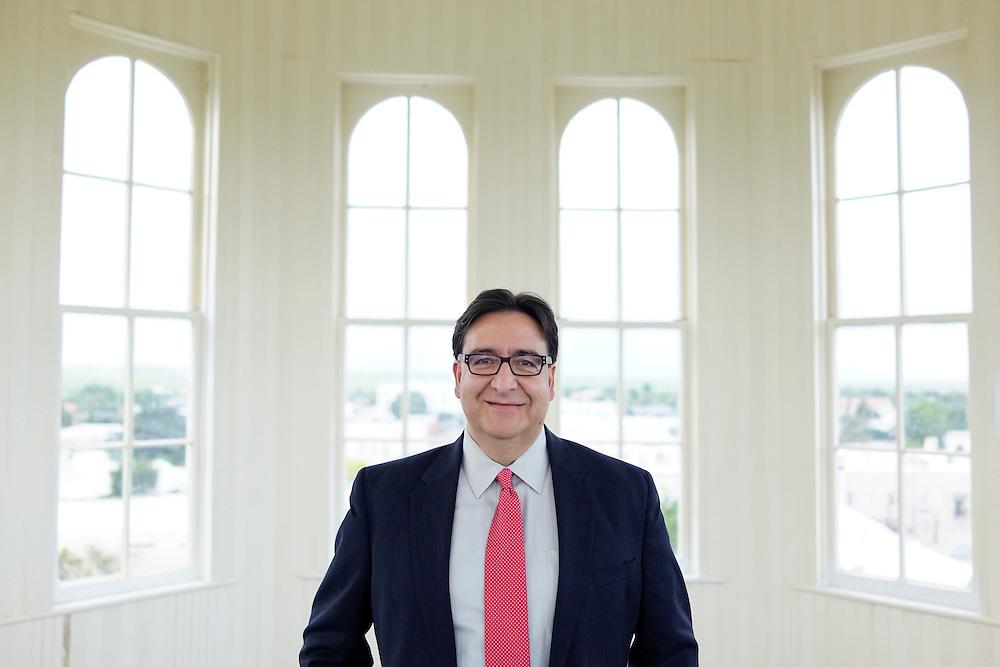 Marfa, Texas - August 26, 2016: Pete Gallego running for U.S. Congress TX-23,<br /> CREDIT: Matt Roth