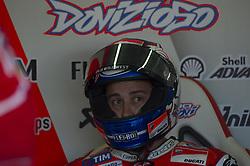November 10, 2017 - Cheste, Spain - Andrea Dovizioso (Ducati Team) at pit during free practice for Valencia Motogp  (Credit Image: © Gaetano Piazzolla/Pacific Press via ZUMA Wire)